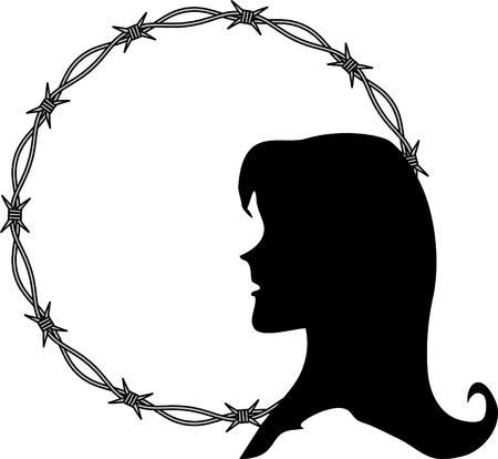 Violation of woman rights Illustration