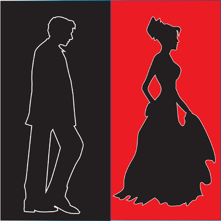 man and woman relations concept Vector