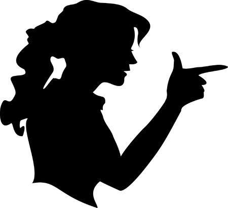 Young  Woman making gun gesture Vector