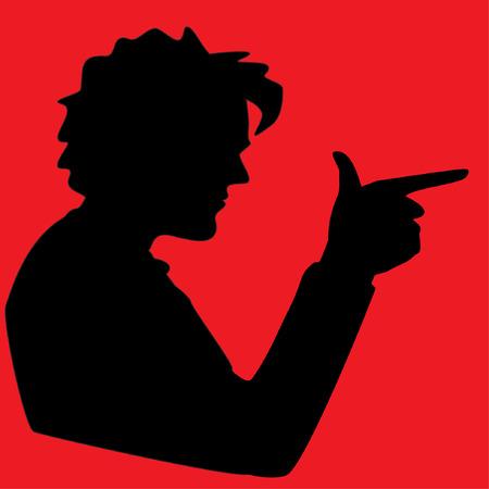 Young  Man making gun gesture Illustration