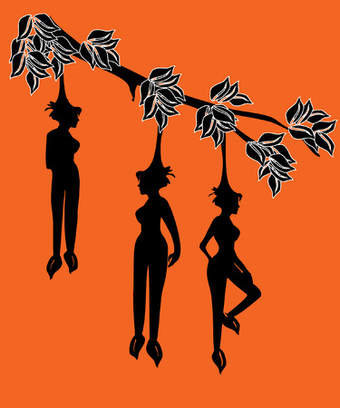 himmapan: tree bearing fruits in the shape of girls. This tree grows at the Himmapan, a mythical forest where the female fruits