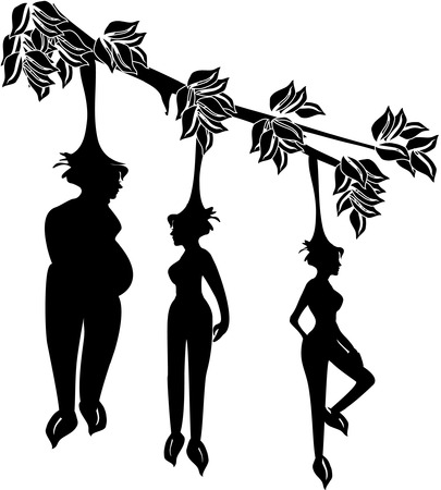 tree bearing fruits in the shape of girls. This tree grows at the Himmapan, a mythical forest where the female fruits