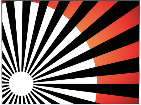 vector abstract background of red sun burst rays