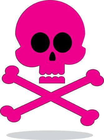 helloween: Pink skull