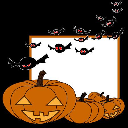 jack o' lantern: Halloween night background with Jack O Lantern, illustration