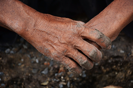 dirty old man: Hands dirty old man