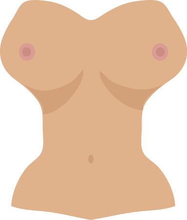 topless women: Free the nipple, white background Illustration
