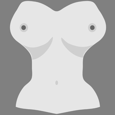 topless women: Free the nipple, gray background