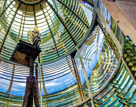 The light element and lenses of a lighthouse