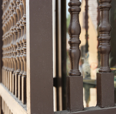 spindles: Row of balusters Stock Photo