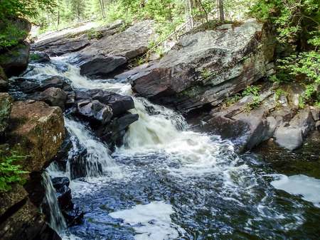 algonquin park: A stream in the hills of Algonquin Park Stock Photo