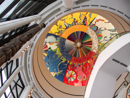 edifices: The colorful ceiling of the Museum of Civilization in Ottawa, Ontario, Canada