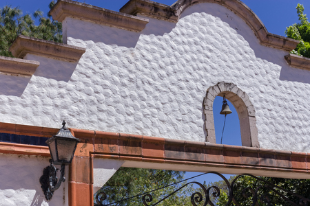 The top of the gate in the wall around a Mexican house Stock fotó