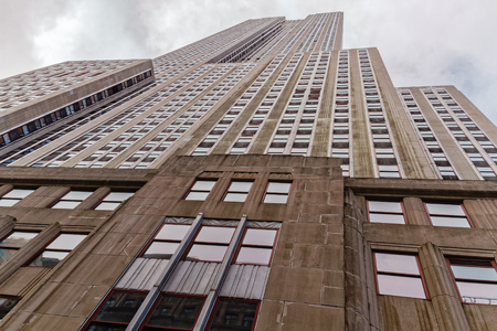 edifices: The view of the Empire State Building from below