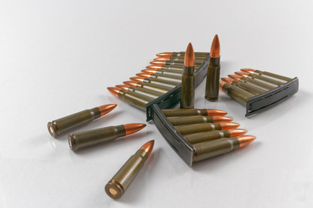 full jacket bullet: 7.62x39 full metal jacket target shooting rifle cartridges with speed loader stripper clips