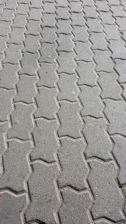Pattern created by cobblestones