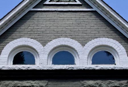 attic: Half round attic windows