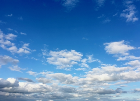 Azure sky, cumulous clouds