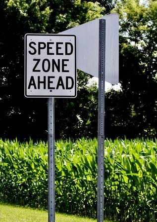 Speed zone sign