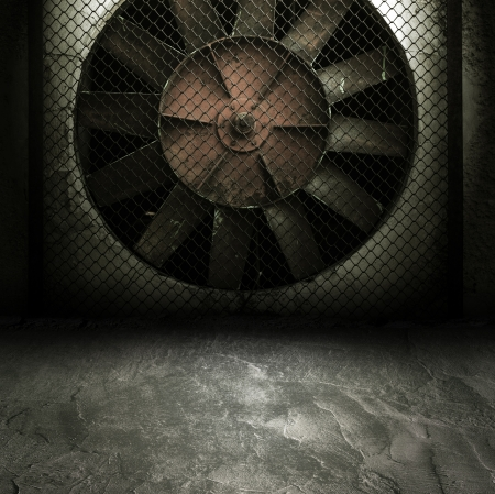 Dark Grunge Room  Digital background for studio photographers  Stock Photo - 14742823