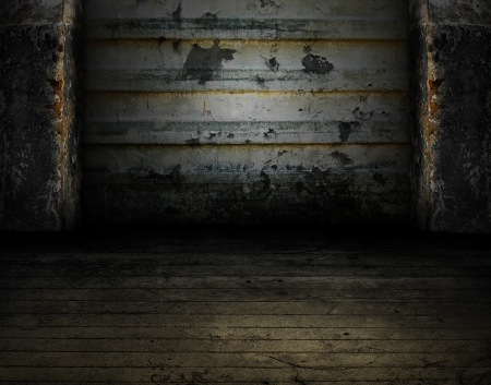 Dark Grunge Room  Digital background for studio photographers  Stock Photo - 14858068