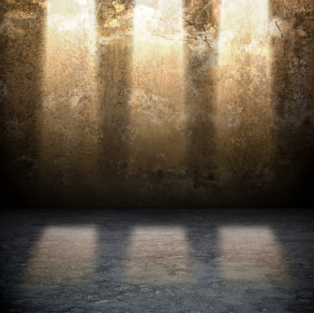 Dark Grunge Room  Digital background for studio photographers  Stock Photo - 14858083