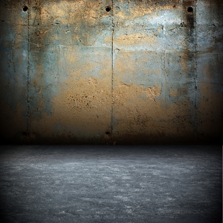 Dark Grunge Room  Digital background for studio photographers