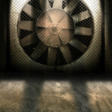 Dark Grunge Room  Digital background for studio photographers