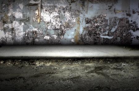 Dark Grunge Room  Digital background for studio photographers  photo