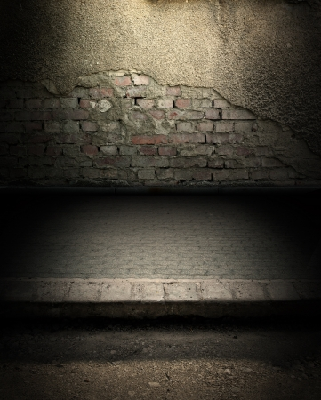 dungeon: Dark Grunge Room  Digital background for studio photographers