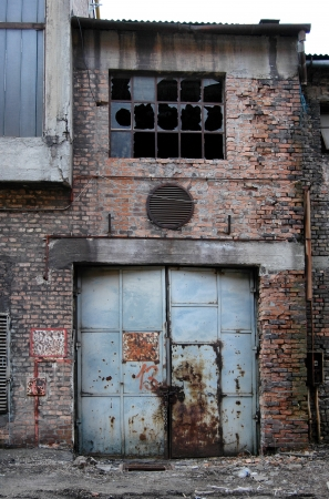 abandoned factory: Old industrial building