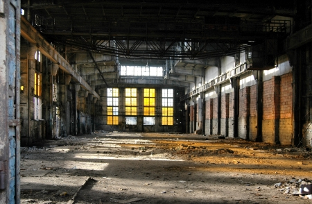 abandoned warehouse: Old industrial building