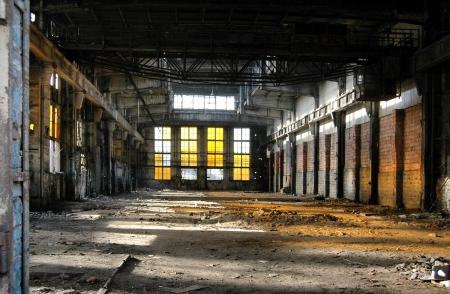 bedrijfshal: Oud industrieel gebouw Stockfoto