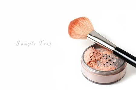 makeup set isolated on white background Stock Photo