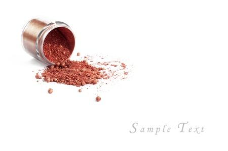 make up applying: makeup set isolated on white background Stock Photo