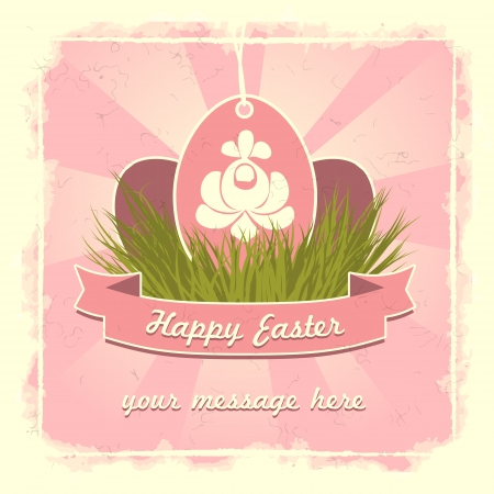 Old classic easter eggs card with traditional flower symbol. Stock Vector - 17414300