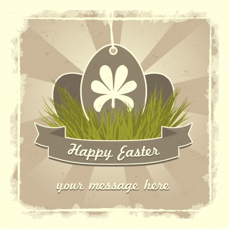 Old classic easter eggs card with traditional flower symbol. Stock Vector - 17414297