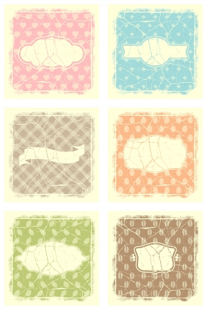 Collection of vintage retro grunge food labels Stock Vector - 17482199