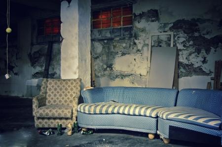 industry moody: Dark Grunge Room. Digital background for studio photographers.