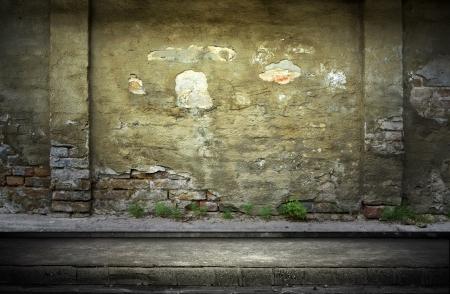 Calle grunge pared de fondo digital para fot�grafos de estudio