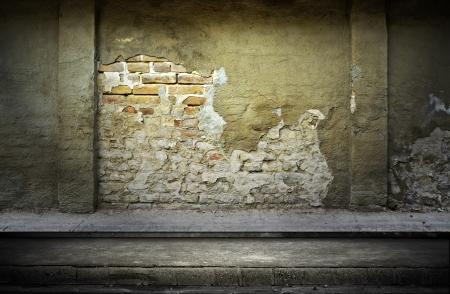 grunge interior: Calle grunge pared de fondo digital para fot?grafos de estudio Foto de archivo