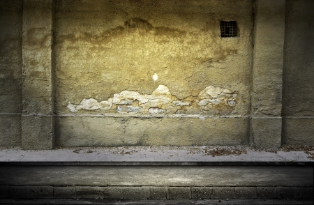 Street grunge wall  Digital background for studio photographers  photo