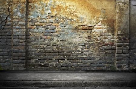 dungeon: Street grunge wall  Digital background for studio photographers
