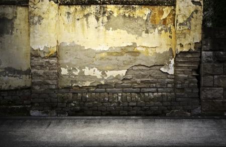 Straat grunge muur Digitale achtergrond voor studiofotografen
