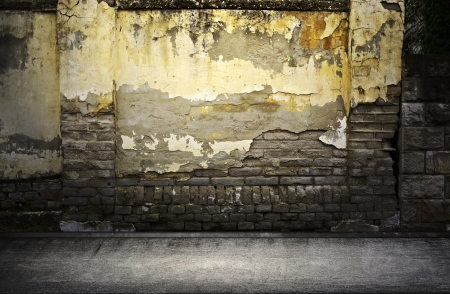 moody: Street grunge wall  Digital background for studio photographers