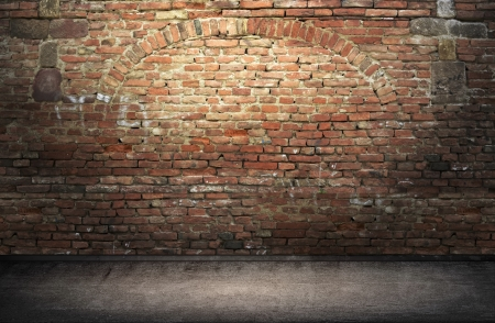 dark background: Street grunge wall  Digital background for studio photographers