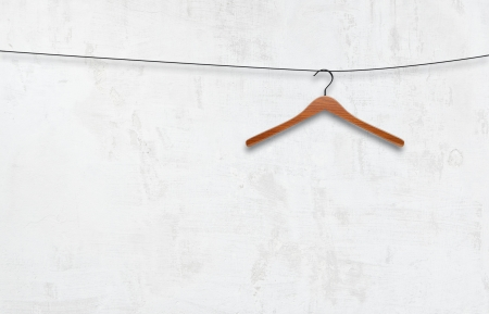 coat hanger on a white wall