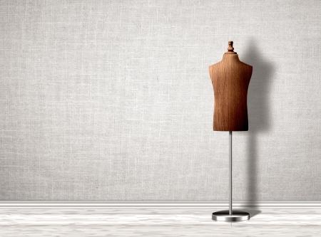 wooden mannequin: Empty mannequin torso template