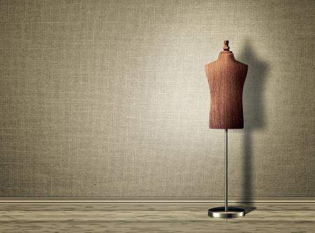 Empty mannequin torso template