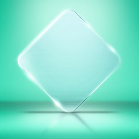 Foto de la placa de vidrio en blanco, con copia espacio